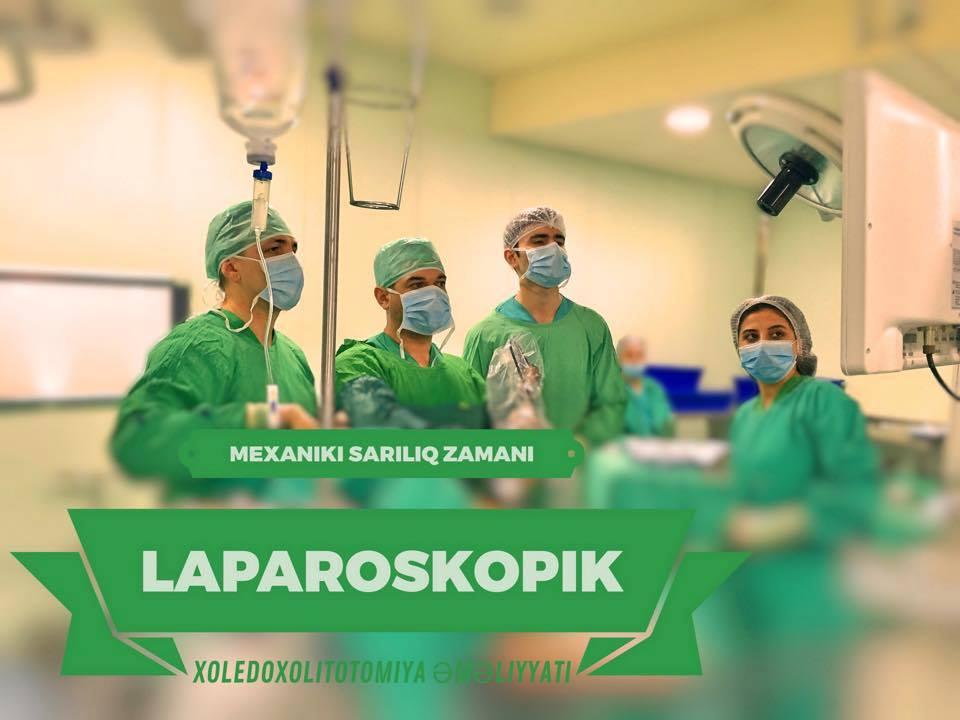 Laparoskopik Xoledoxotomiya, Xoledoxoskopiya Və Xoledoxolitotomiya əməliyyatı Aparılmışdır